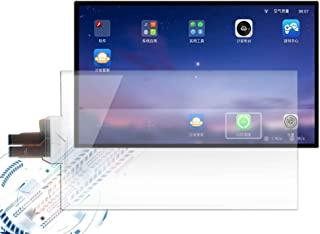 Gerteise 110 Channels 10-100 touch points capacitive multi touch foil/interactive touch film,USB connect interactive touch foil film transparent touch screen film through LCD or projector (32Inch)