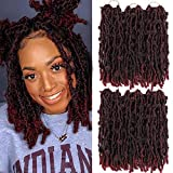 Butterfly Locs Crochet Hair 12 Inch Copper Red Faux Locs Hair Pre Looped Crochet Braids Most Natural Soft Locs Crochet Dreadlock Hair Extensions for Black Woman(12 inch 1b/bug)Ideal for Mother's Day