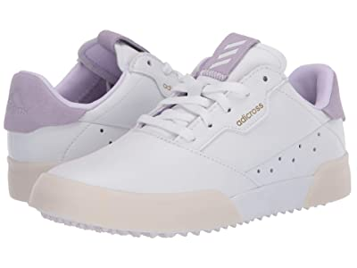 adidas Golf Adicross Retro (Little Kid/Big Kid) (Footwear White/Purple Tint/Footwear White) Golf Shoes