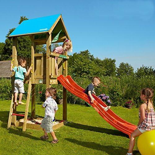 AVANTI TRENDSTORE - Spielturm aus Holz für Kinder, ca. 150 x 290 x 300 cm
