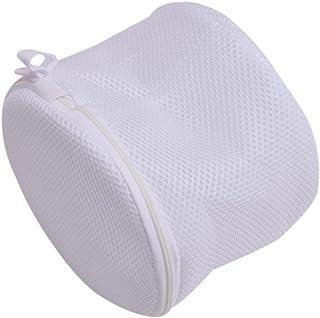 LnLyin - Bolsa de lavandería para ropa interior, perfecta para sujetadores, protege la ropa, poliéster, Blanco, inch