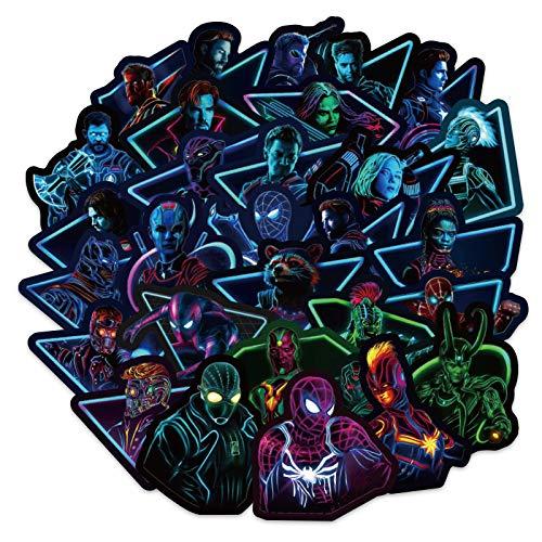 WYDML Etiqueta engomada del Equipaje de la Alianza de los Vengadores Etiqueta engomada de la Caja de la Palanca de Viaje del patín de la Guitarra del Ordenador 100 Piezas