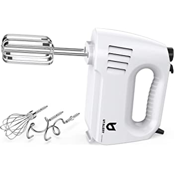 Hand Mixer Electric, Utalent 180W Multi-speed Hand Mixer with Turbo Button, Easy Eject Button and 5 Attachments (Beaters, Dough Hooks, and Whisk)
