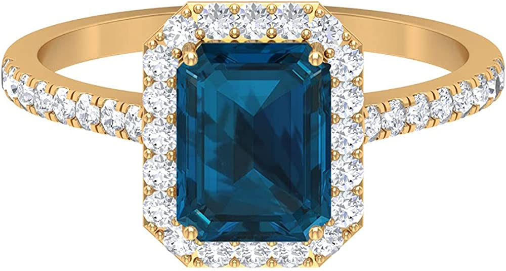 December Birthstone - 2.25 CT Max 67% OFF Octagon Soli London Daily bargain sale Cut Blue Topaz