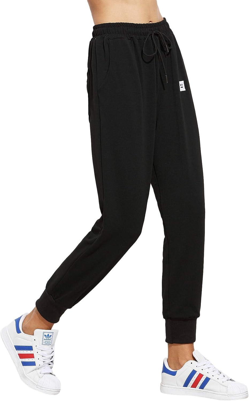 SweatyRocks Women's Drawstring Mesa El Paso Mall Mall Waist Athletic Sweatpants Jogger