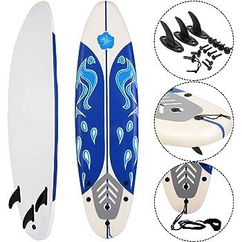 """5/'5/"""" Surf Board Surfing Beach Ocean Foamie Board w//Wrist Rope /& 3 Fins Pink"""