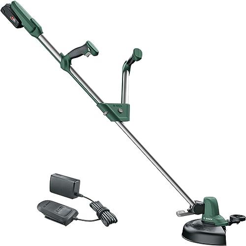 Bosch Coupe-bordures UniversalGrassCut 18-260 (1x batterie 2,0 Ah, 18V, ⌀ de coupe: 26cm, poignées réglables, sous ...
