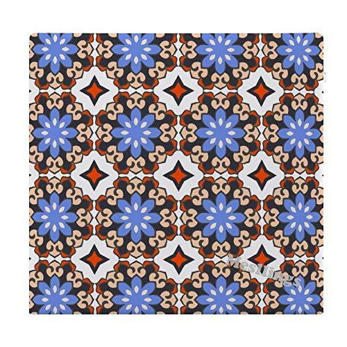 Mesllings Sitzkissen, arabisches abstraktes Muster, quadratisch, bequem, für Büro, 38,1 x 35,6 cm