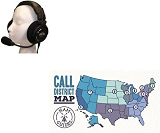Bundle - 2 Items - Heil Sound Headset & Boom mic, Deluxe, HC-6 and Ham Guides TM Pocket Reference Card