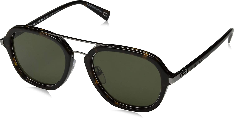 Marc Jacobs Marc172s Aviator Sunglasses DARK HAVANA GREEN 54 mm