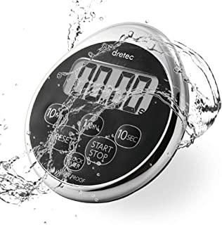 dretec Digital Timer, Water Proof, Shower, Magnetic Backing, Silver, Black, Officially..