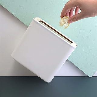 trash can kitchen مستطيل سطح المكتب نفايات القمامة يمكن، البلاستيك الصغير الصغير مكتب القمامة كونترتوب يمكن كونترتوب القما...