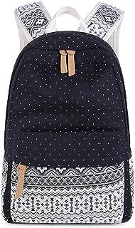 GLJ Canvas Simple and Versatile College Student Bag Backpack (Color : Black)