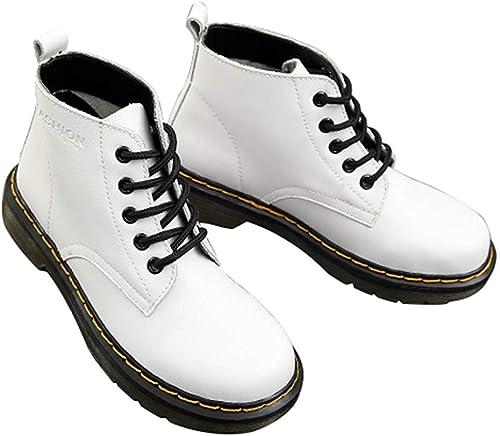 ZHRUI Cabeza rotonda, Gruesa, con Stiefel Bajas y cómodas en el Tobillo Superior Martin Stiefel cálidas para la Nieve (Farbe   9, tamaño   40EU)