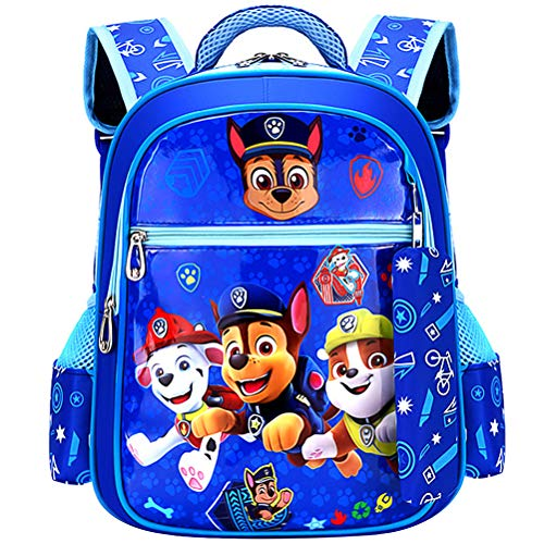 ZSWQ Paw Patrol Kinderrucksack Paw Patrol Rucksack Kinderrucksack mit Taschen Chase Marshall Rubble für Jungen Rucksack