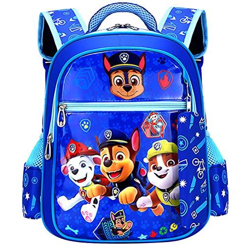 ZSWQ Mochilas Infantiles Guarderia Mochilas Infantiles Patrulla Canina Bolsas Escolares De Dibujos Animados para Niñas Y Niños De 3 A 6 Años Azul