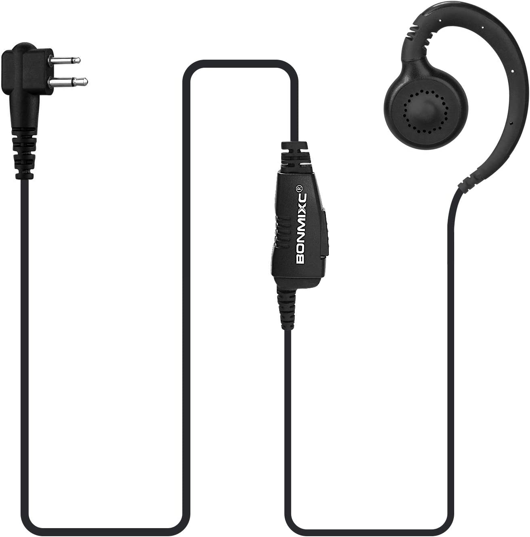 BONMIXC 2 Pack 2-Pin Walkie wit Selling rankings Mic Talkie Compatible Earpiece online shopping
