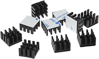 Chiic Juego de 10 piezas de aluminio disipador de calor para instalaciones eléctricas de ordenador, color negro