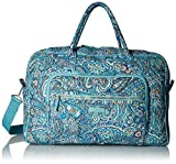 Vera Bradley Womens Iconic Weekender Travel Bag, Signature Cotton, Daisy Dot Paisley