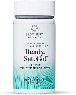 Ready. Set. Go! Fertility Support Prenatal Supplement for Men, Methylfolate, Natural Whole Food Men's Multivitamin, Organi...