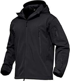 Men's Hooded Tactical Jacket Water Resistant Soft Shell Snow Ski Winter Coats