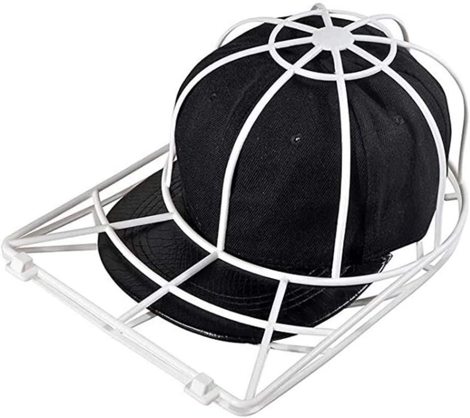 CUTICATE Baseball Hat Washer for Washing Machine,Cap Washer Frame Cage,Hat Cleaner Protector Hat Rack White