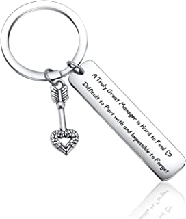 Manager Keychain Leaving Retirement Gifts Goodbye Farewell Gift ideas for Friends Coworker