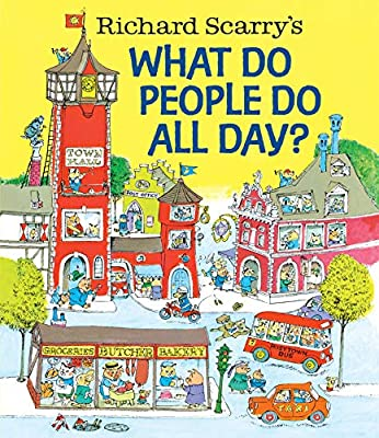 Community helpers, workers in a variety of jobs and others who are out in the world are featured in What Do People Do All Day