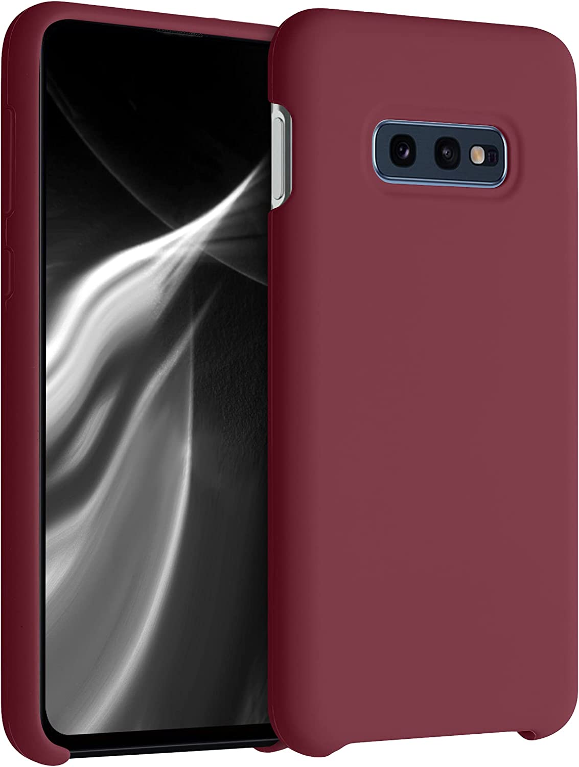kwmobile TPU Silicone Case Compatible with Samsung Galaxy S10e - Case Slim Phone Cover with Soft Finish - Rhubarb Red