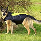 BSEEN Dog Raincoats Adjustable Lightweight Waterpoof Dog Rain Jacket with Reflective Strip Gear & Harness Hole for Small Medium Large Dogs (XXXL, Green)