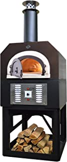 Chicago Brick Oven Propane Gas & Wood-Burning Commercial Outdoor Pizza Oven, CBO-750 Hybrid Stand with Copper Vein Hood
