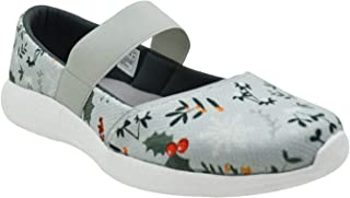 KazarMax XXIV Teen Girls Grey Berries Printed Air Cooled Memory Foam Latest Collection,Comfortable Ballet Flat's Ballerinas/Bellies (Made in India)