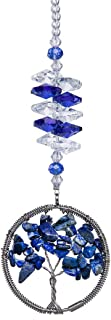 H&D Blue Crystal Sun Catcher Tree of Life Window Ornament
