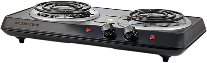 Ovente 1700W Double Hot Plate Electric Countertop Coil Stove 5.7 & 6 Inch with Dual 5..
