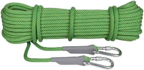 LYM-Rope Corde d'escalade, équipement Extérieur S'élevant Diamètre Corde Rappel Corde Sécurité d'alimentation Extérieure Corde Sécurité Extérieure d'escalade (Couleur   Vert, Taille   50m)