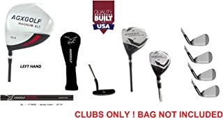 AGXGOLF Men's Left Hand XLT Edition Executive Golf Club Set wDriver Fairway & Utility Club + Irons, Wedge & Free Putter; Cadet, Regular & Tall Lengths; Built in USA!
