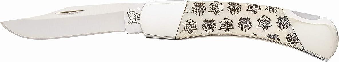 "product image for Bear & Son 3 3/4"" White Smooth Bone Lockback Knife"
