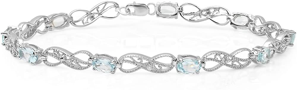 Be super welcome Dazzlingrock Collection Ladies Infinity Bracelet Max 68% OFF Link Tennis St