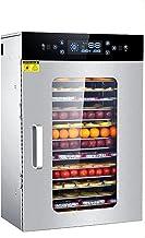 HMBB Machine de déshydrateur alimentaire 16 plateaux en acier inoxydable Thermostat réglable Déshydrateur de nourriture nu...