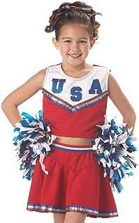 California Costumes Patriotic Cheerleader Costume,Red,Large