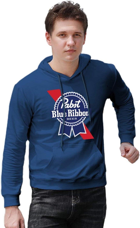 S-6XL Beer Gear Pabst-Blue-Ribbon Mens Hooded Sweatshirt Loose Pullover Hoodies
