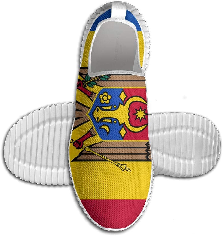 Flagg of Moldova Graphic Printed ljusljus Andable Andable Andable springaning skor skor skor Mans Sports gående skor  Fri leverans och retur