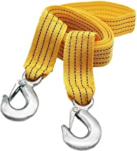 Syga Metal, Nylon Emergency Rope car Traction Rope Load Bearing 3 tons Trailer with Off-Road Trailer Hook, 3 m (Medium, Yellow)