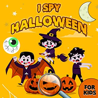 I Spy Halloween Book for Kids: A Fun Activity Coloring and Guessing Game For Kids Ages 3-8