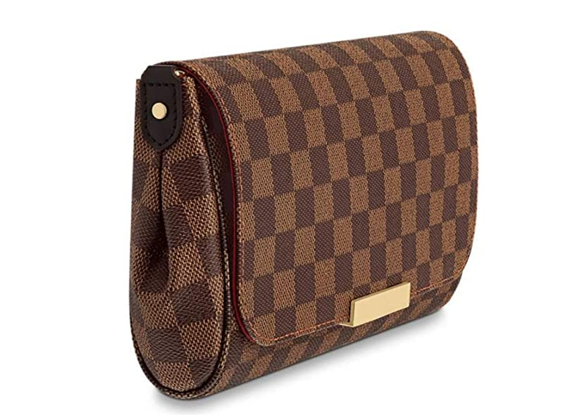 Women's Canvas Pochette Favorite MM Double-use Chain Flap Bag Small Crossbody Bag Shoulder Bag (damier ebene)