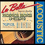 LaBella 7GP12L Phosphor Bronze Acoustic Guitar Strings, Light