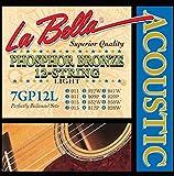 LaBella 7GP12L Phosphor Bronze Acoustic Guitar Strings, Light