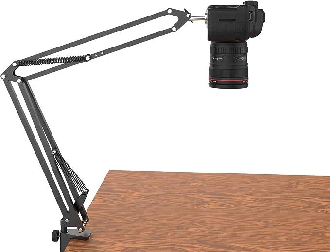 93 opinioni per Treppiede sopraelevato per fotocamere DSLR, Supporto da scrivania per telecamera