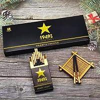 HUWOYMX プレミアムシガーティータバコ(チョコレートクリームフレーバー)、男性と女性の健康タバコ、雲南中国のハーブティータバコ、緑茶茶の煙、ミントティータバコ、きれいな肺の煙、タバコの代替品、100%無煙、100%タールフリー (2パック,1949細(上質で香り高い味))