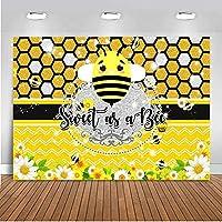 蜂の背景としての新しい甘いひまわりハニカム蜂-日の写真の背景10x7ft蜂のベビーシャワーの写真の背景
